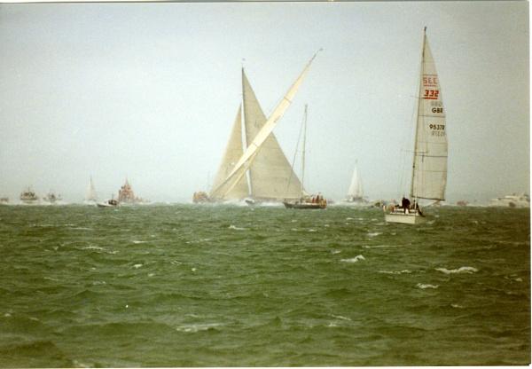 J class racing off Hurst by lighty