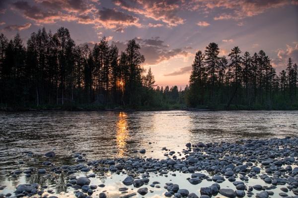 My Taiga sunset by VikTor72