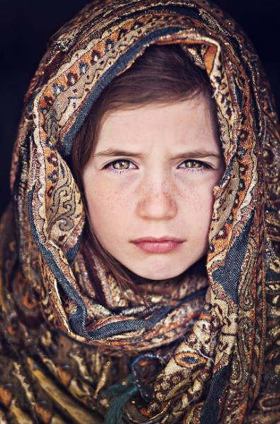 Girl in scarf portrait by jessicaelisze