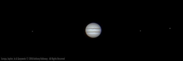 Europa, Jupiter. Io & Ganymede by AntHolloway