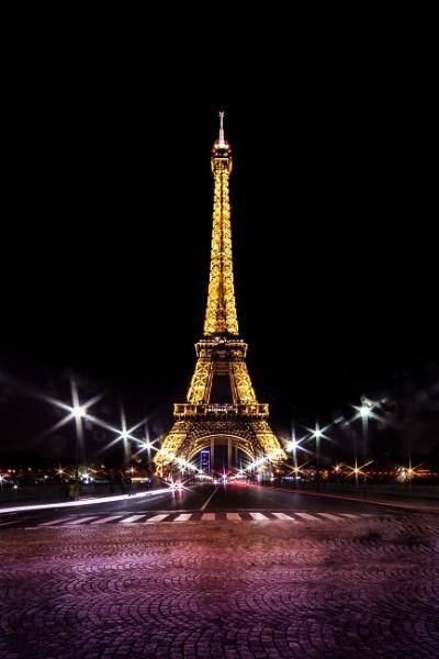 Eiffel at night by fossie1955