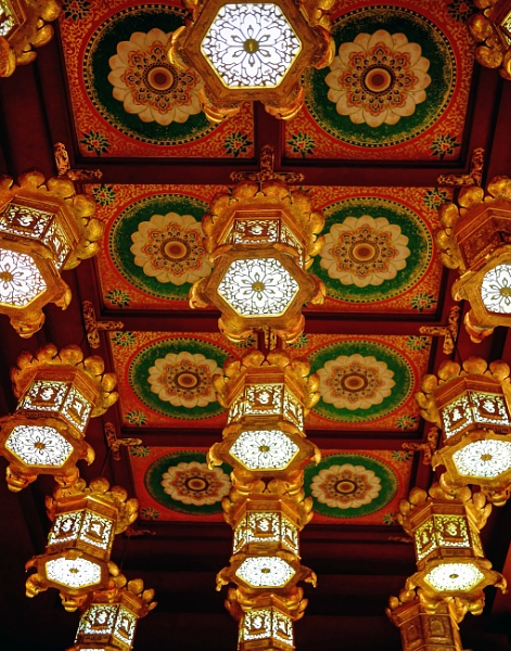 Lights in the Buddha Tooth Relic Temple and Museum Singapore by StevenBest