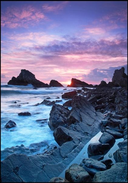Mupe Ledges & Mupe Rocks at sunset by trailguru
