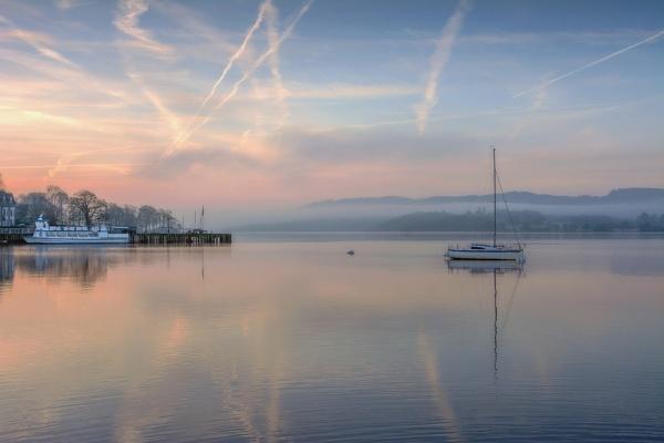 Waterhead Pastels Dawn by ColouredImages