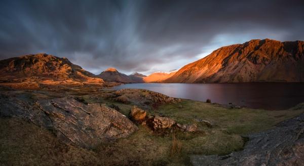 Wasdale sunset glow by BobShaw