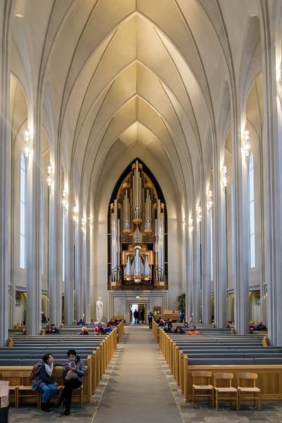 Interior View of the Hallgrimskirkja Church in Reykjavik by Phil_Bird