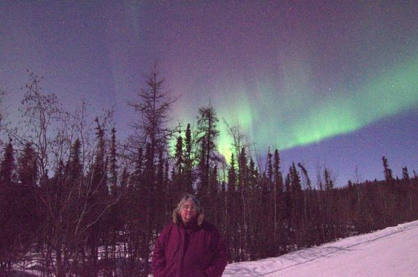 Selfie with Auroras by Rebeak