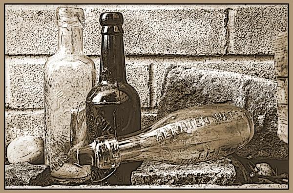 Three Old Bottles by JawDborn