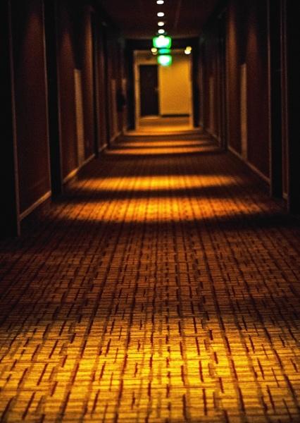 Hotel corridor by Madoldie