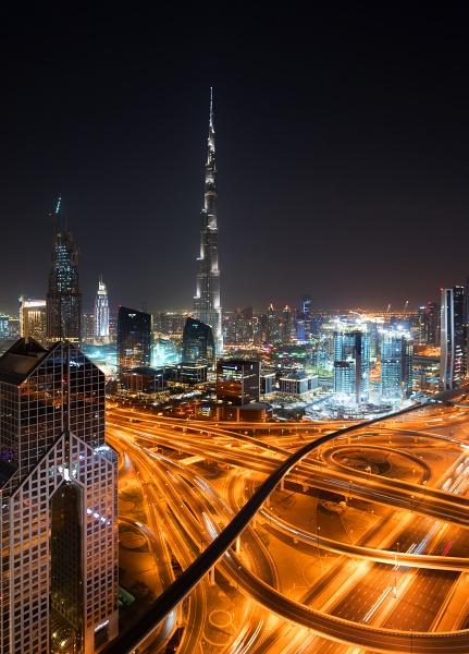 Burj Khalifa at Night by PhilMinnis