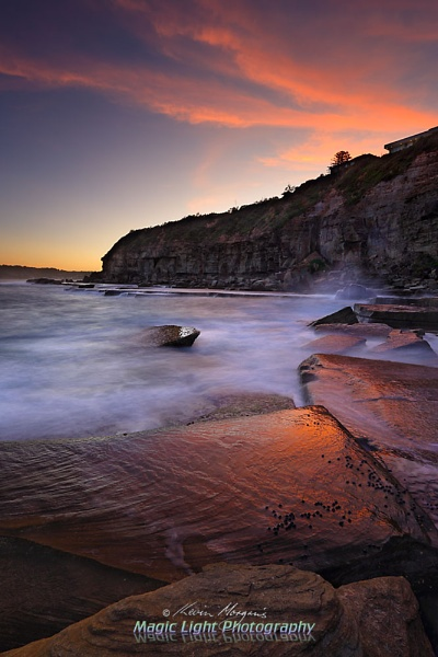 Terrigal Haven Rocks Sunset 23 Feb 2016 by kmorgan3