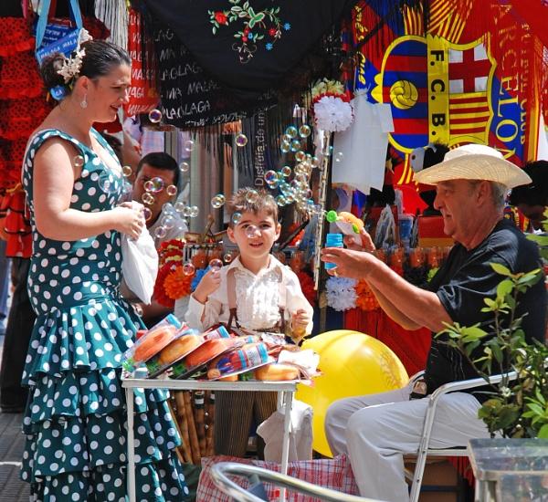 During the Summer fair in Málaga, Spain by almudena