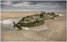 Submarine wreck, Aberlady.