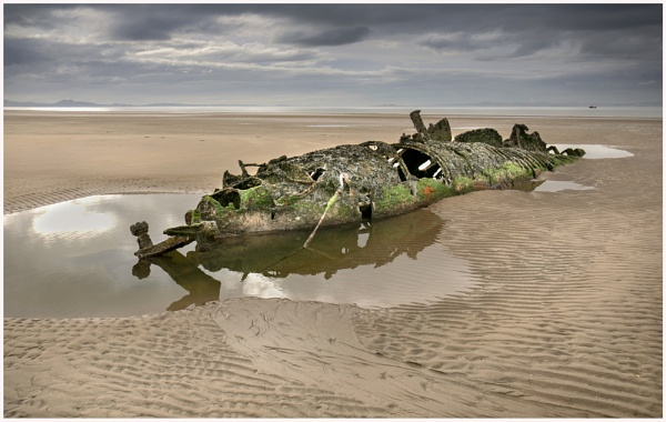 Submarine wreck, Aberlady. by AnnJ