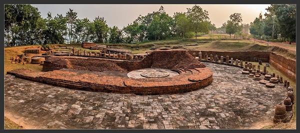 gallery type classroom at Lalitgiri, Orissa, India (1 BC) by jyotirmoy