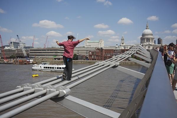 Millennium bridge stunt by EddieDaisy