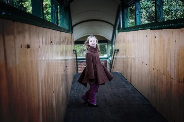 Girl on Train Bridge by minter