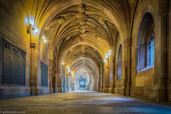 John Rylands Library corridor by Philpot