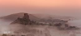 Misty Corfe castle