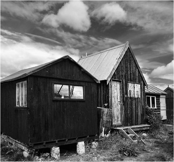 Fishermen`s Huts,Southwold by BigAlKabMan