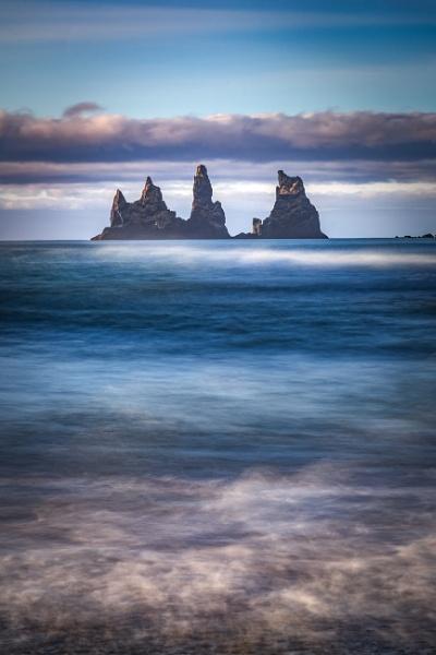 Reynisdrangar sea stacks off Vik beach 2. by braddy