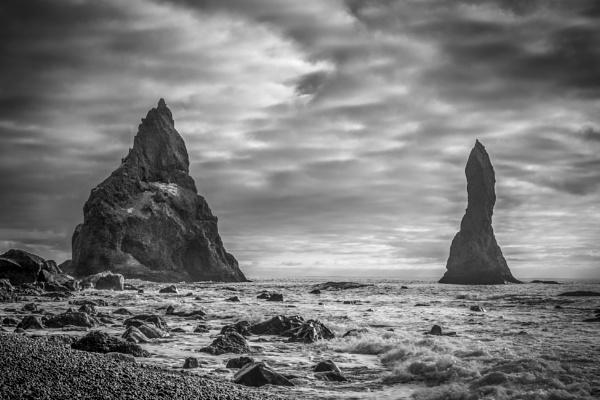 Reynisdrangar sea stacks off Vik beach 4. by braddy
