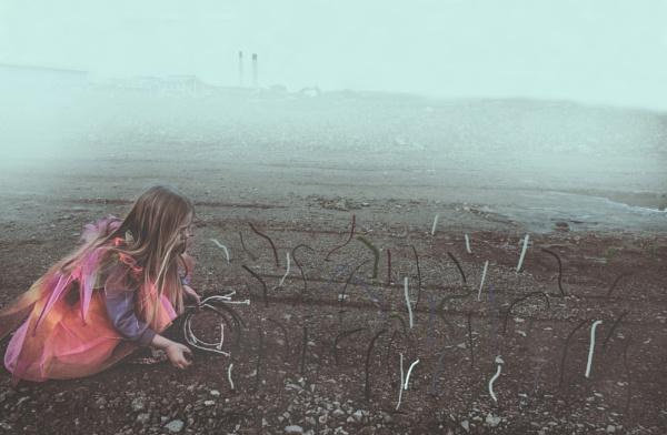 Picking flowers in future. by Sigita