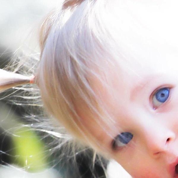 Little Miss Blue Eyes by PhotographyBySuzan