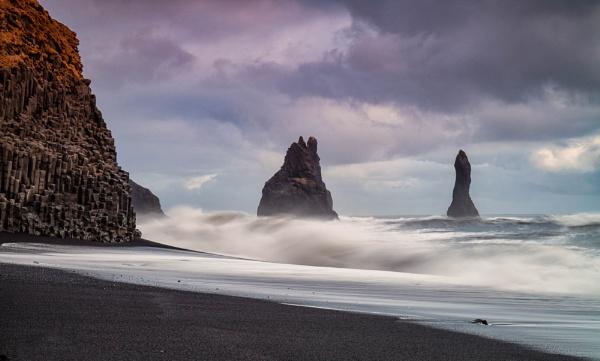Reynisdrangar Sea Stacks off Black Beach by RobboB