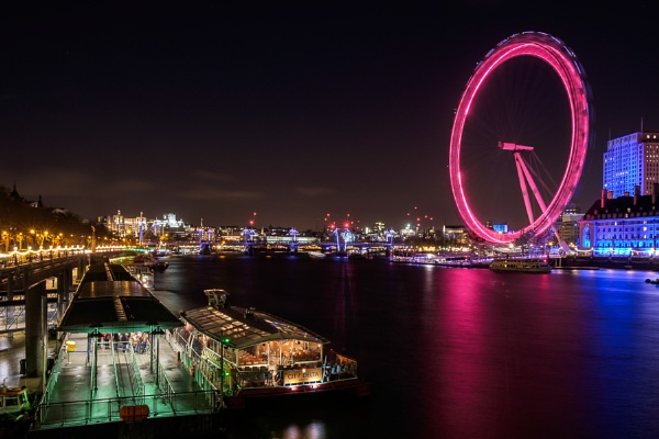 View of the London Eye at Night by Phil_Bird