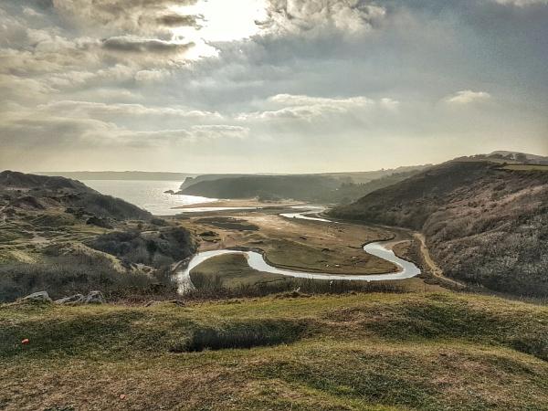 Three Cliffs Bay by Lightthouseman