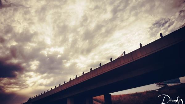 The Bridge & Clouds by DiaanS