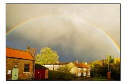 Rainbow over Farlington YO61 1NW