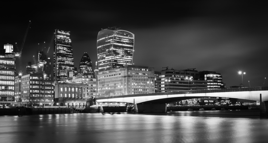 City at Night Mono