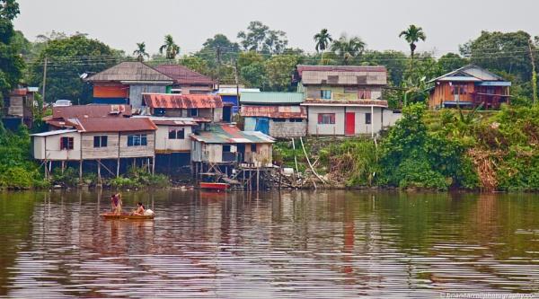 Rural life on the Sarawak River, Sarawak, Borneo, Malaysia by brian17302