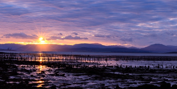 Sunset over the River Clyde by RobertTurley