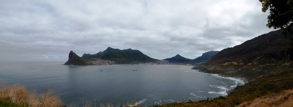 Overlooking Hout Bay in South Africa by tractor