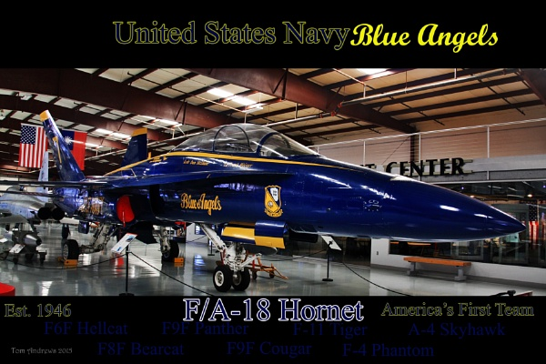 F/A-18 Hornet in Blue Angel Livery by f4fwildcat