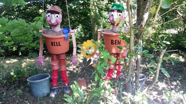 Bill & Ben go green in the garden by sally_chick