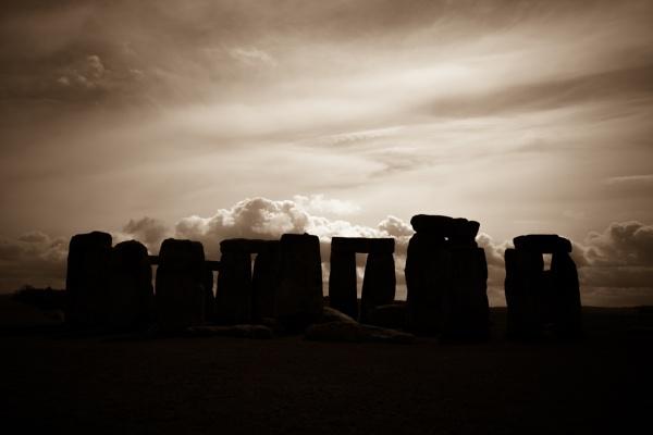 Stonehenge Silhouette by touchingportraits