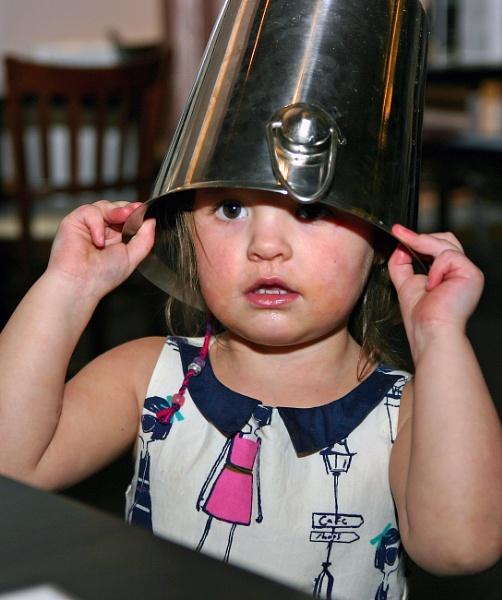 Lila Bucket Head by blueninjasix