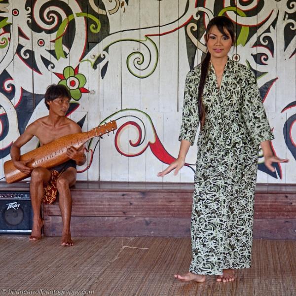 Dancers in Sarawak Borneo by brian17302