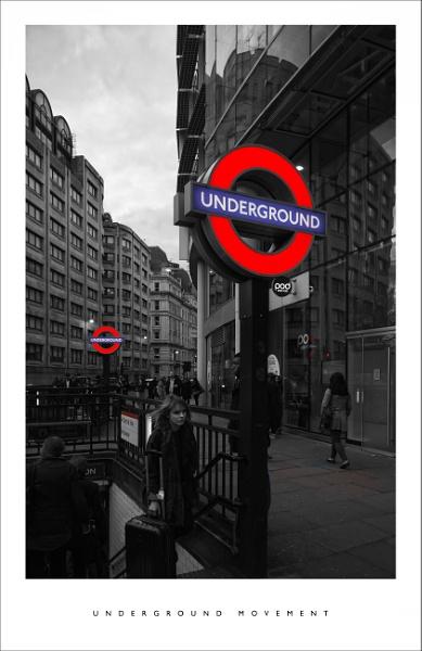 Underground movement by parallax