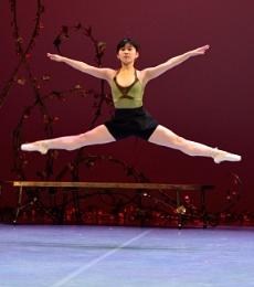 Momoka Matsui performs as the Humming Bird