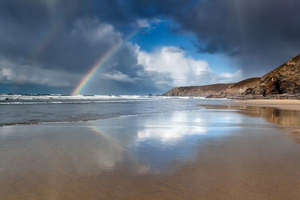 Porthtowan Rainbow by Steve-T