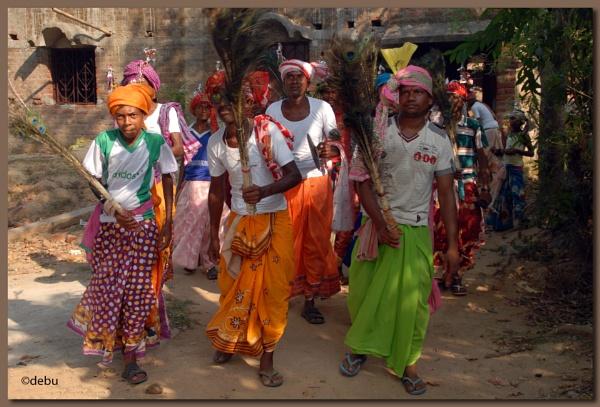 Santhali Dancer by debu