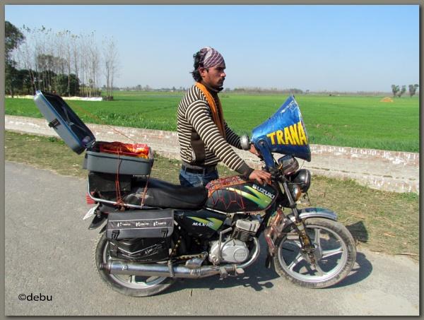 Motorbike salesman by debu