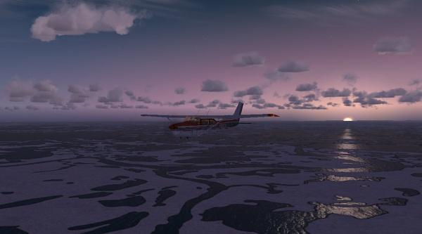 Cessna and Sunset by StrayCat
