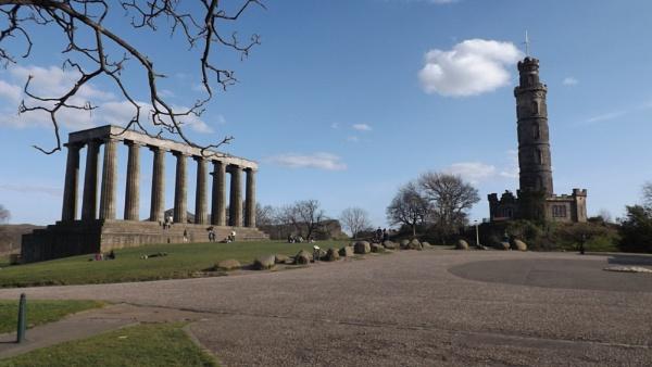 Calton Hill W/ Acropolis & Church Spire + Cross On Top by xosn