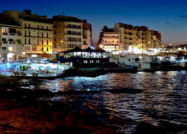 Bugibba At Night. by tom2malta2